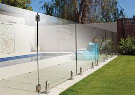 1200 X 550 - 12mm Frameless Glass Panel No Holes